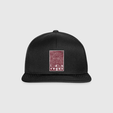 Las Vegas hipster city map red - Snapback Cap