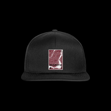 Montreal Hipster Stadt Karte rot - Snapback Cap