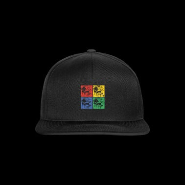 Piano pop art - Czapka typu snapback