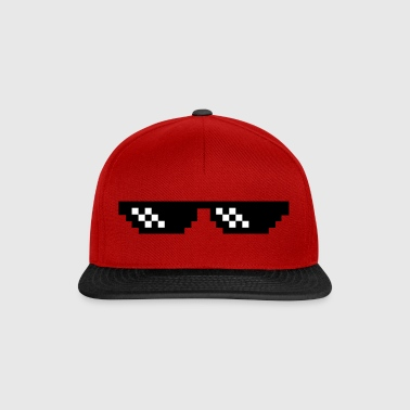 Pixel Brille Thug Life Gangster  - Snapback Cap