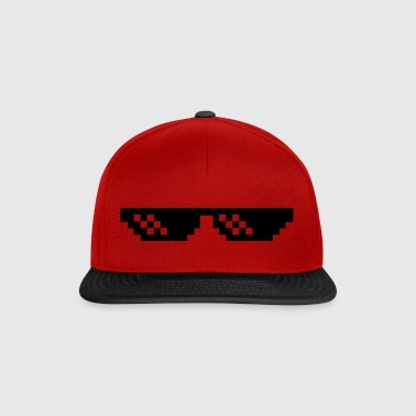 Pixelbrille Thug Life Deal with it Sonnebrille - Snapback Cap