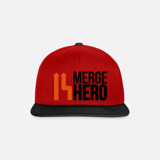 Master Caps & Hats - merge_hero9_2f - Snapback Cap red/black