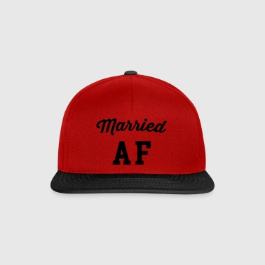 Married AF Funny Quote - Snapback Cap