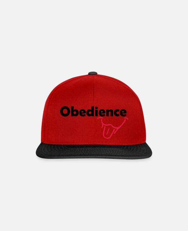Obedience Caps & Mützen - Obedience is Fun - Snapback Cap Rot/Schwarz