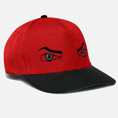 Intimidating Evil look. Angry eyes male intimidating - Snapback Cap