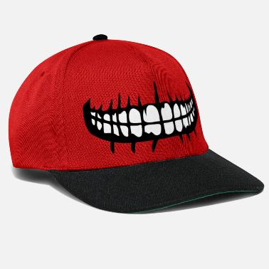 Mouth teeth mouth grin horror halloween scary boes - Snapback Cap