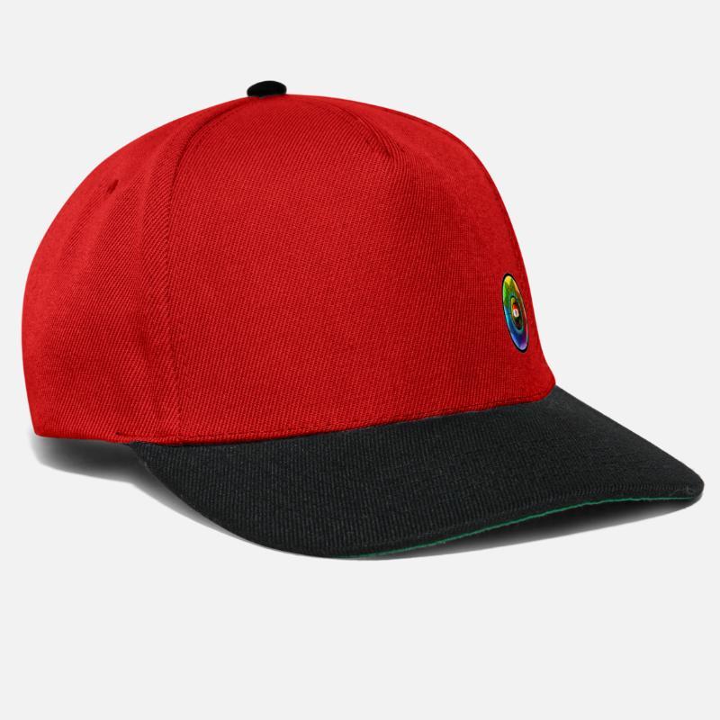 Green Caps   Hats - The third eye - Snapback Cap red black 668d72c0e80b