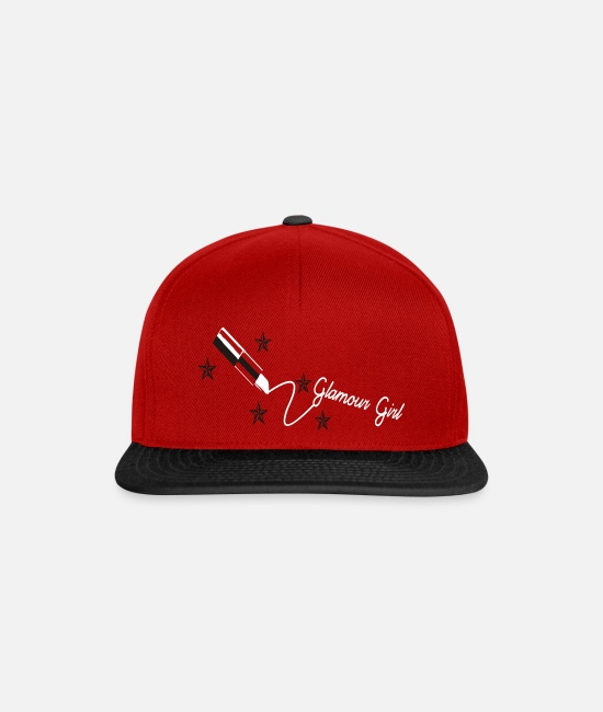 Cheesecake Caps & Hats - girl lipstick - Snapback Cap red/black