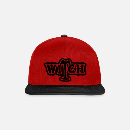 Halloween Caps & Hats - Witch - Snapback Cap red/black