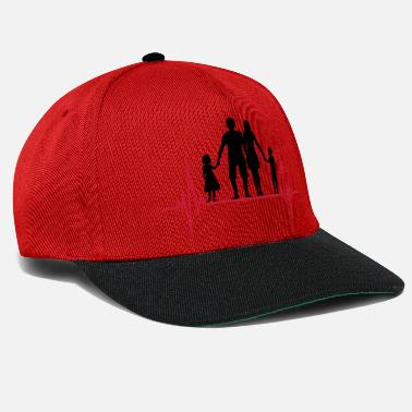 Frequenz frequenz familie herzschlag puls vatertag 2 kinder - Snapback Cap