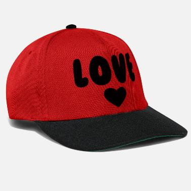 Heart Gal LOVE with a black heart - Snapback Cap