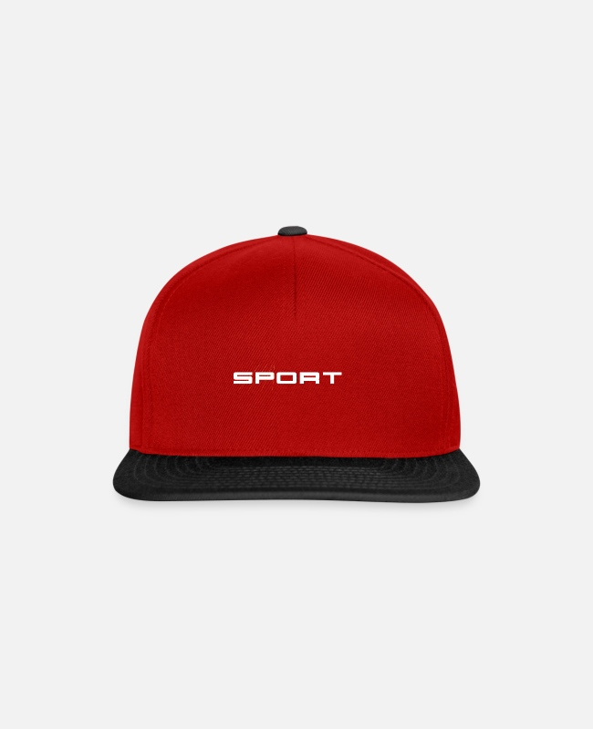 Training Caps & Hats - Sports - Snapback Cap red/black