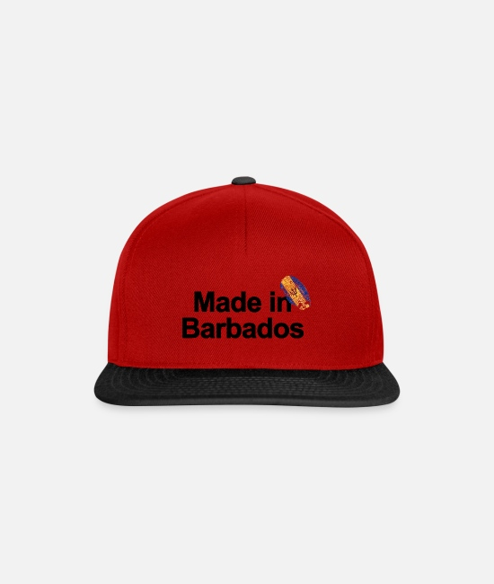 Love Caps & Hats - Fingerprint Made in Barbados poster - Snapback Cap red/black