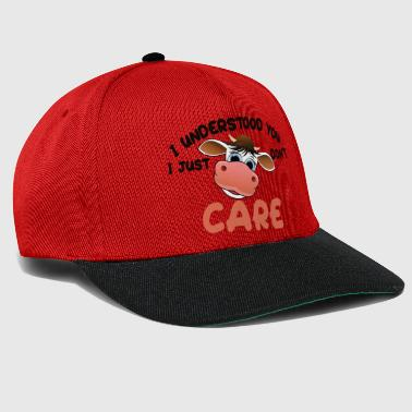 Udder I understood you, I just do not care - funny cow - Snapback Cap