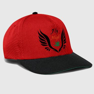 fly high with weed gras ganja canabis - Snapback Cap