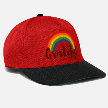 Gay Pride grateful rainbow LGBT - Snapback Cap