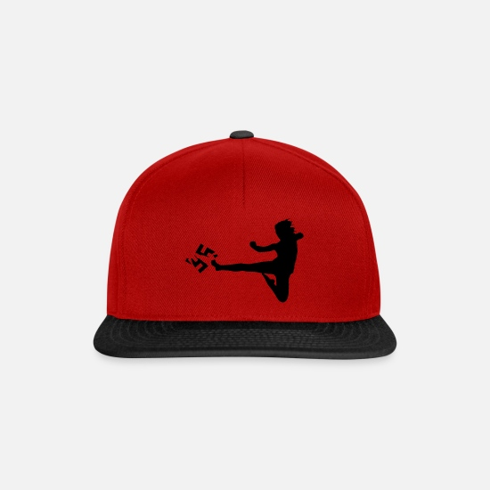 Martial Arts Caps & Hats - Anti racism kick martial arts - Snapback Cap red/black