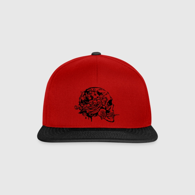 Skull with Rose - Snapback Cap