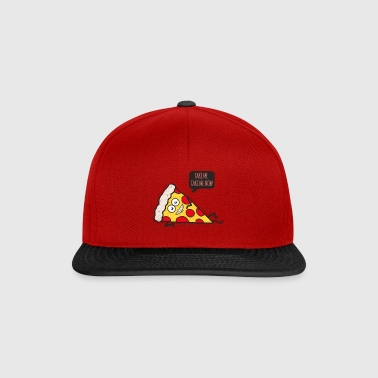 Funny Cartoon Pizza - Statement / Funny / Quote - Snapback Cap