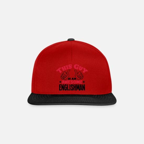 England Caps & Hats - this guy is an awesome englishman 2col - Snapback Cap red/black