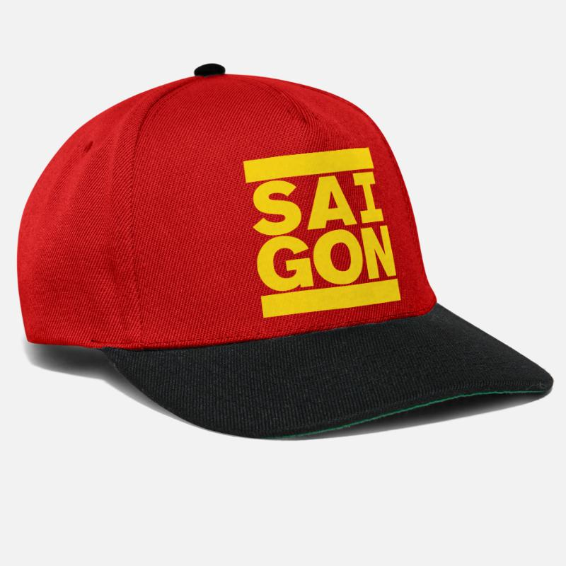 Chi Caps & Hats - SAIGON - Snapback Cap red/black