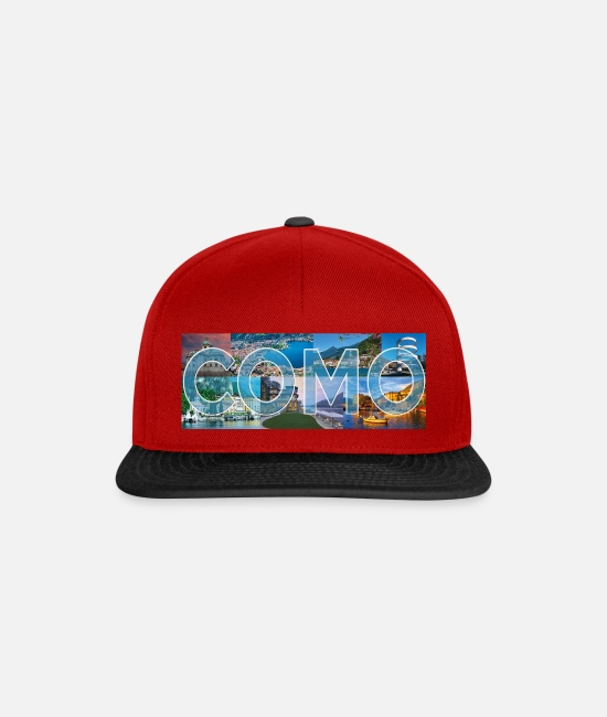 Nature Caps & Hats - Como collection - Snapback Cap red/black