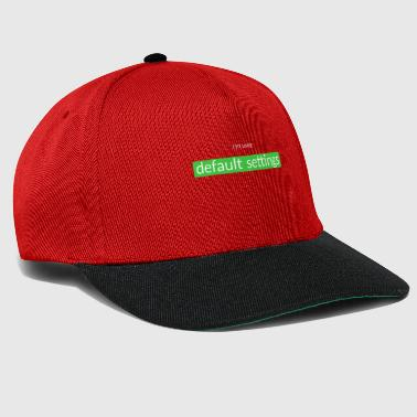 Set default settings - Snapback Cap