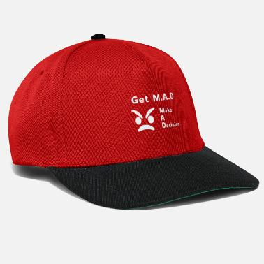 Madonna get mad white trans - Snapback Cap