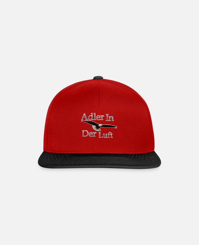 Derb Caps & Hats - Eagle in the air - Snapback Cap red/black