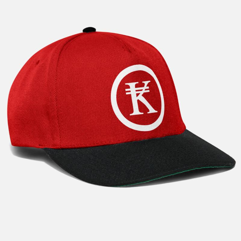 Asian Caps & Hats - Laos Kip Lao / Laotian Money Sign - Snapback Cap red/black