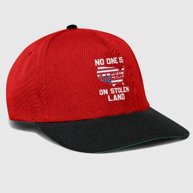 USA No one is illegal on stolen land - Snapback Cap