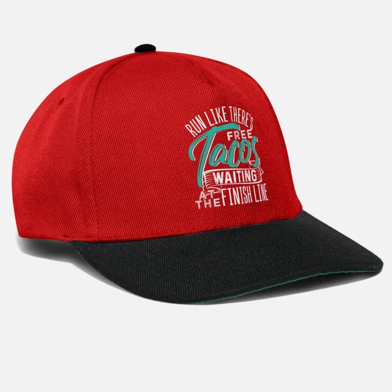 e267654b0ada6 Memory Caps   Hats - Run Like There s Free Tacos Waiting At The Finish -  Snapback