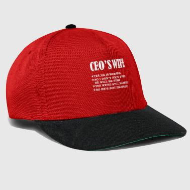 Wedding Day CEO's Wife Yes He's Working and Not Imaginary Valentine's Day Marriage - Snapback Cap