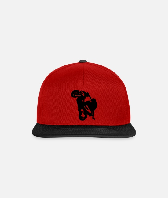 Stunt Caps & Hats - stunt moped - Snapback Cap red/black