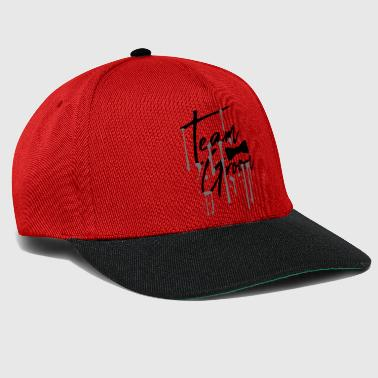drop graffiti fly text men team groom ma - Snapback Cap