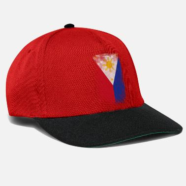 Filipino Philippines Filipino Flag Proud Vintage Distressed - Snapback Cap