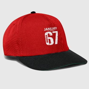 January 1968 Jersey Number - Snapback Cap