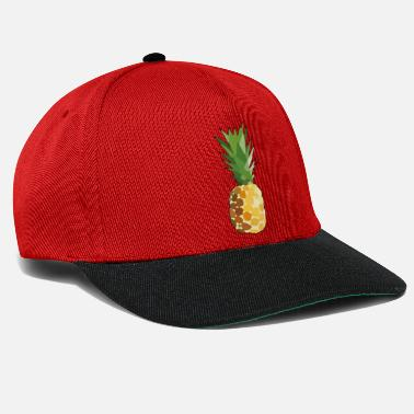 Eco Pineapple Fruit Design Sticker Graphic Image Healthy - Snapback Cap