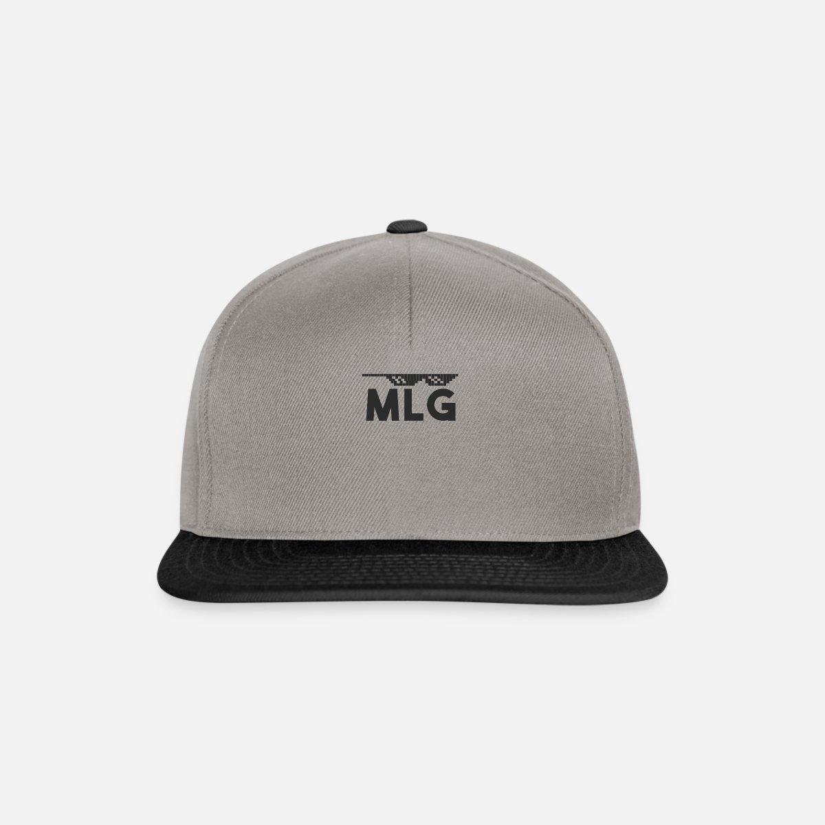 check-out e8204 f155a MLG Casquette snapback - gris graphite/noir