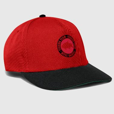text circle round stamp fishing team sport logo ge - Snapback Cap
