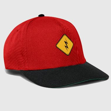 attention attention attention signe de danger éclair - Casquette snapback