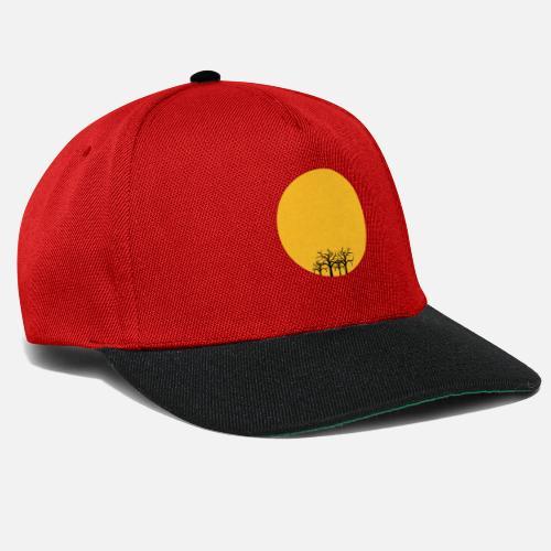 82e31990294 forest summer desert duerre sun round circle klimawa Snapback Cap ...