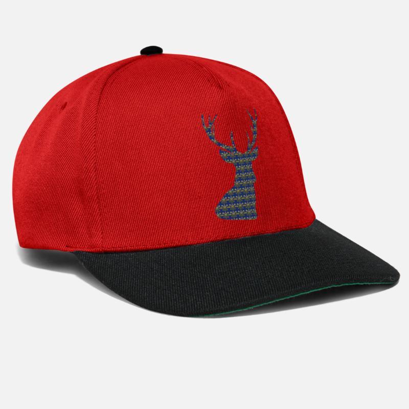 Alce Gorras y gorros - Sudadera con capucha con los ciervos Imprimir - Gorra  snapback rojo bbbaad7624a