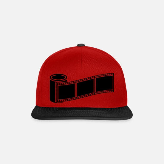 Image Caps & Hats - photo_retro_1_f1 - Snapback Cap red/black