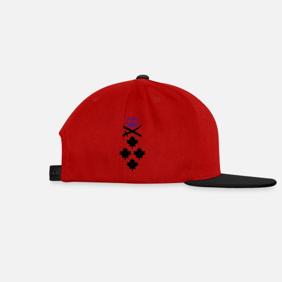 Général Canadiens Mision Militar Caps & Hats - General CANADA Army, Mision Militar ™ - Snapback Cap red/black