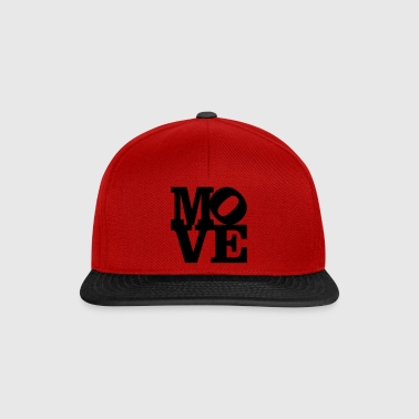 move Homage to Robert Indiana move black inside - Snapback Cap