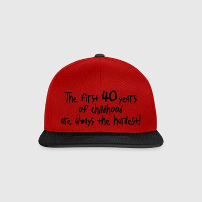 first 40 years of childhood 40. Geburtstag Kinder - Snapback Cap