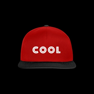 Design / Sayings cool white with inline transparency - Snapback Cap