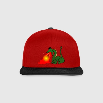 Dragon which spits fire - Snapback Cap