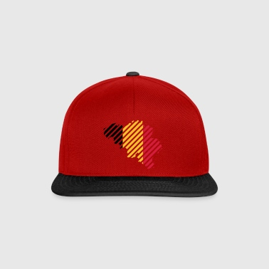 Paese a righe Belgio - Snapback Cap
